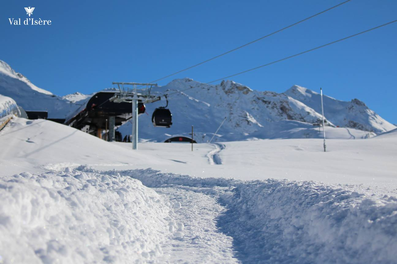 Snow in Val d'Isere